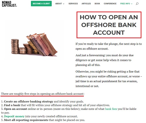 How to open an offshore bank account