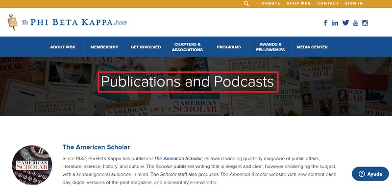 phi beta kappa publications and podcasts