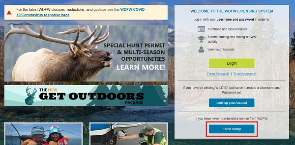 fishing license online create an account