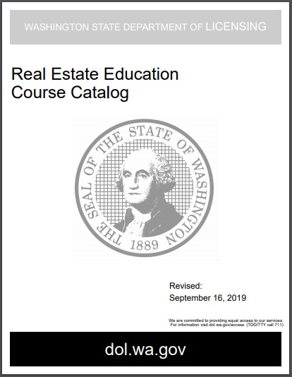 real estate education course catalog