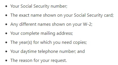 w-2 copy from the ssa