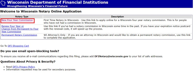 Wisconsin Notary Online Application1