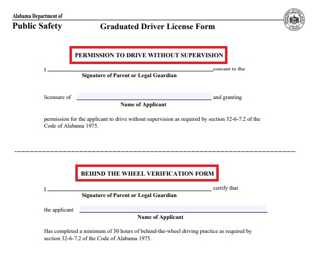 alabama drivers license form