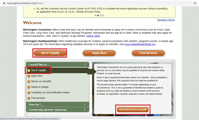 washington food stamps online application step 2